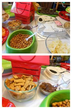 Scooby Gingerbread Snacks and Pretzel Balls (Walmart) for snacks. A Snoopy Birthday Recap | The Tumpaks\' Blog http://thetumpaks.wordpress.com/2012/05/23/a-snoopy-birthday-recap/