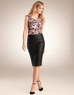 PU Pencil Skirt by Pepperberry