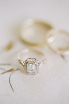 Cushion-cut engagement ring: Photography: Lacie Hansen - http://laciehansen.com/