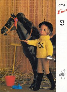 Vintage Knitting Pattern Sindy Doll Horse Riding Outfit on eBay!