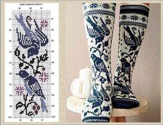 Knitting Charts, Knitting Socks, Knitting Patterns, Stitch 2, Cross Stitch, Fair Isle Knitting, Boot Cuffs, Cool Socks, Handicraft