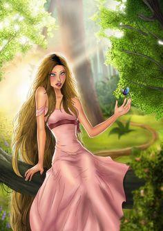 Pin Up - inLite Illustrations & Design My Fantasy World, Rapunzel, Disney Characters, Fictional Characters, Pin Up, Aurora Sleeping Beauty, Disney Princess, Tangled, Illustrations