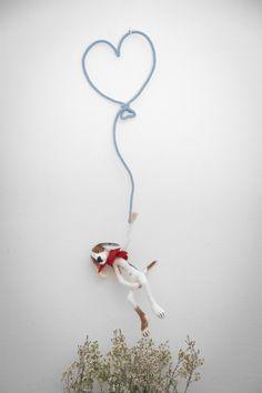 Les Mots en Laine:Coeur en laine ballon de baudruche · Paris blog.lepetitflorilege.com (Peluche en feutre par SWIG) crédit photo...