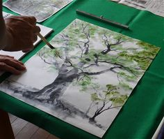 Tree ink painting