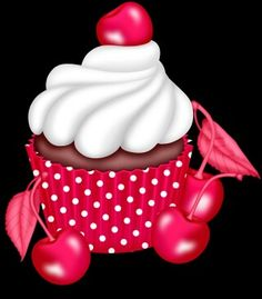 zezete2.centerblog.net Cupcake Png, Cupcake Clipart, Fruit Cupcakes, Cute Cupcakes, Cupcakes Wallpaper, Photo Collage Maker, Cupcake Pictures, Cupcake Drawing, Birthday Clipart