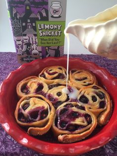 Cooking Through Fiction: Snicket's Lemony Blueberry Sweet Rolls