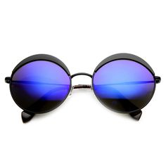 Unique Women's Round Top Brow Fashion Sunglasses - zeroUV