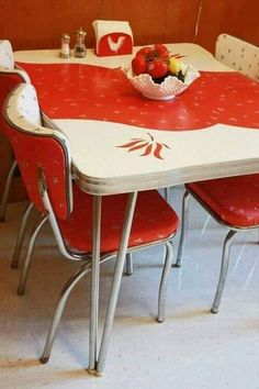 666 best vintage and new chrome kitchen tables and chairs images in rh pinterest com