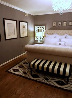"""love the bed - wall color is restoration hardware """"slate"""""""