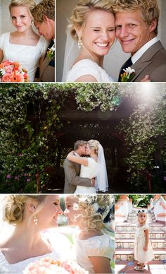 coral flowers.. navy tie... {coral & navy wedding} for Kait