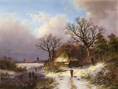 Johann Bernhard Klombeck, WINTER LANDSCAPE WITH BRUSHWOOD COLLECTORS AND SKATERS, Auction 947 Old Masters, Lot 1306