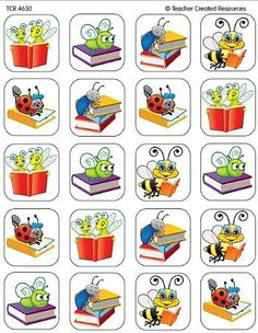 Teacher Created Resources Book Bug Stickers, Multi Color 120 Self-Adhesive stickers per pack. Great for incentives and decorations. Craft Kits For Kids, Craft Activities For Kids, Book Activities, Bon Point, Learn Hebrew, Teacher Created Resources, Craft Stickers, Bullet Journal Art, Easy Art Projects
