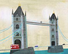 London's Tower Bridge Art Print van twoems op Etsy