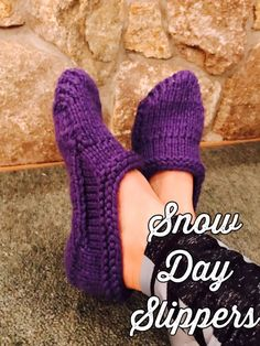 Snow Day Slippers PDF Pattern