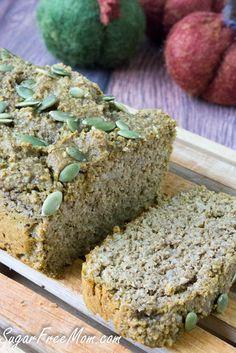 Grain Free Sugar Free Pumpkin Bread/sugarfreemom.com
