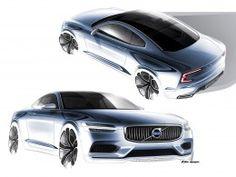 Volvo Concept Coupe Design Sketches