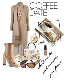 """""""nude brands"""" by anamnae ❤ liked on Polyvore featuring Chanel, Givenchy, Gucci, Chopard, Versace and Kester Black"""
