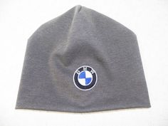 Handmade Jersey hat with BMW logo, personalized gift, made to order.