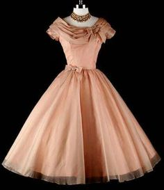 1950's Mocha Organza Wedding Party Cocktail dress