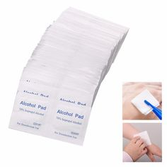 shewt 100PCS Mini Disposable Wipes 70 Isopropyl Alcohol Antibacterial Wet Tissue Portable Wet Wipes for Self-driving Travel 5 3cm