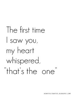 The first time I saw you..