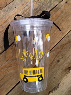School bus themed Customizable teacher or bus driver gifts,