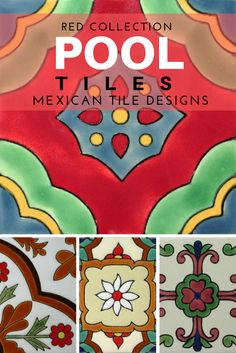 Red Collection Of Mexican Tile Designs Pool Tiles Red Floor Pool Tiles Mexican Tiles