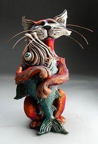 raku kitty loves fish