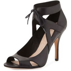 Pour la Victoire Yanni Ankle-Tie Leather Pump