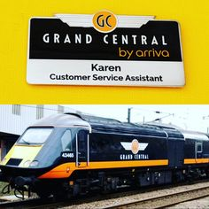 New layout design for Grand Central Railways, with lower case arriva logo overprinted onto black enamel. Laser engraved names/titles, strong magnet fixing. Personalised Badges, Custom Coins, Name Badges, Black Enamel, Laser Engraving, Layout Design, Charity, Strong, Names