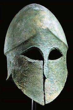 Corinthian helmey 500-470 BC.Christies