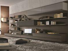 Mueble modular de pared composable montaje pared lacado de madera TAO DAY Colección MisuraEmme by MisuraEmme | diseño Mauro Lipparini