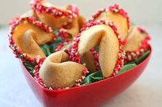 Valentine's Fortune Cookies (from Sprinkled with Flour)