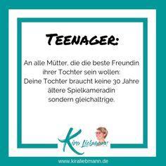 @kiraliebmannde posted to Instagram: ich erleben immer mehr Eltern, die versuchen die besten Freunde ihrer  Kinder zu sein. Jugendliche brauchen euch aber als Eltern und Vorbilder - nicht als Kumpels!   #bestefreundin #mutter #kinderbrauchenliebe #eltern Mantra, Mediathek, Motivation, Letter Board, Lettering, Videos, Ms, Instagram, Teenager Quotes
