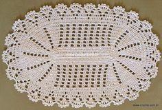 Tapete oval em crochê com aplicação de flores – Passo a passo (1ª Parte)   Croche.com.br