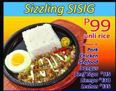 Sizzling SISIG Meals