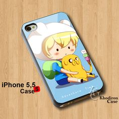 Amazing iPhone 5,5S,5C Case Adventure Time Chibi Finn And Jake