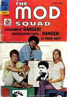 """THE MOD SQUAD Nº 01 - 1969 / Michael Cole é Peter """"Pete"""" Cochran, Peggy Lipton é Julie Barnes, Clarence Williams III é Lincoln """"Linc"""" Hayes, e Tige Andrews é o Capitão Adam Greer."""