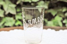 Engraved glass Ernest from the beginning of by LaBourgognedeNath