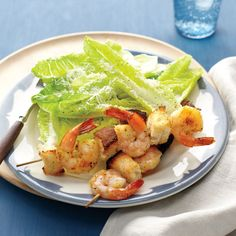 This twist on a Caesar salad will satisfy kids as well as grown-ups. Lemony shrimp and a bright dressing make the dish a standout.