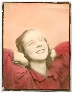 young girl, tinted Photo Booth