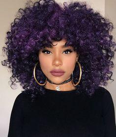 Purple 4b 4c Curly hair