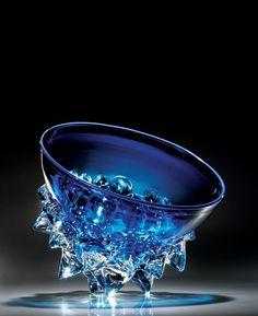 Aqua Thorn by Axiom Glass. American Made Art Glass. 2013 Buyers Market of American Craft. americanmadeshow.com