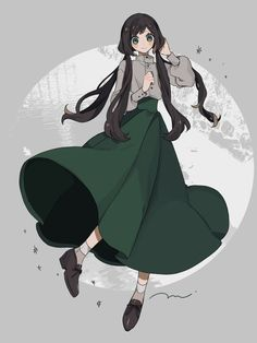 macoさん (@maco_mag) / Twitter Anime Girl Dress, Anime Art Girl, Manga Art, Vestidos Anime, Cute Art, Pretty Art, Drawing Anime Clothes, Anime Poses Reference, Fashion Design Drawings