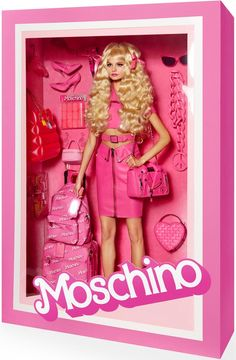 Moschino :: Vogue Models Pose as High Fashion Dolls