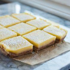 Recipe: Heavenly Lemon Bars with Almond Shortbread Crust — Dessert Recipes from The Kitchn (tasty dessert recipes lemon bars) Fun Desserts, Delicious Desserts, Dessert Recipes, Yummy Food, Lemon Desserts, Yummy Eats, Dessert Ideas, Shortbread Crust, Lemon Bars