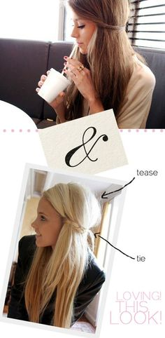 For brunettes and blondes, this tease and tie look is brilliant! Treat your beautiful tresses to haircare from Beauty.com.