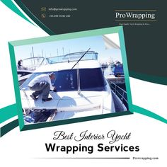 Get your yacht interior refurbished with the latest protective and decorative self-adhesive films giving the astounding looks at a very affordable price with our amazing yacht wrapping services. For details, visit prowrapping.com. Yacht Interior, Best Interior, Interior And Exterior, Best Yachts, Wrapping, Adhesive, Greece, Films, Wraps