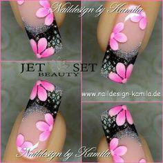nails Fingernail Designs, Gel Nail Designs, Cute Nail Designs, Fancy Nails, Cute Nails, Pretty Nails, Gel Nails, Acrylic Nails, Nail Nail