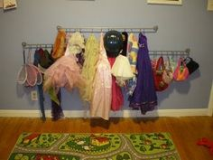 My favorite dress-up storage idea yet.  Someday I'll actually organize the playroom...